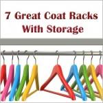 Coat rack with storage.