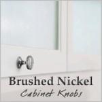 Brushed nickel cabinet knobs