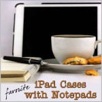 iPad case with notepad